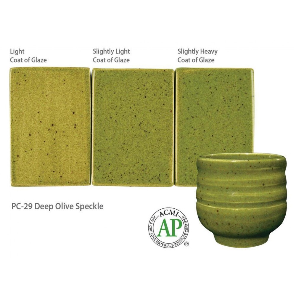 Deep Olive Speckle - 16oz Potters Choice Cone 5 Glaze