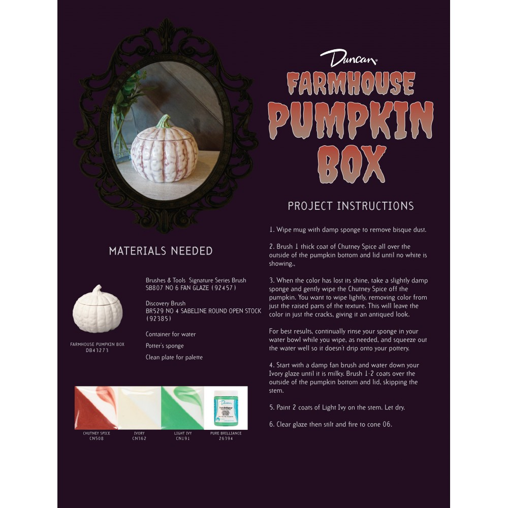 Farmhouse Pumpkin Box - Case of 6