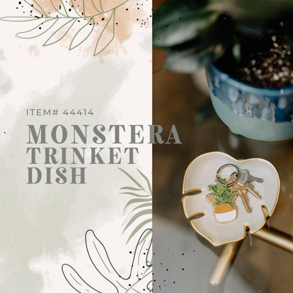 Monstera Leaf Trinket Dish - Case of 6
