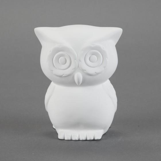 unfinished Ceramic bisque Retro Owl Bank