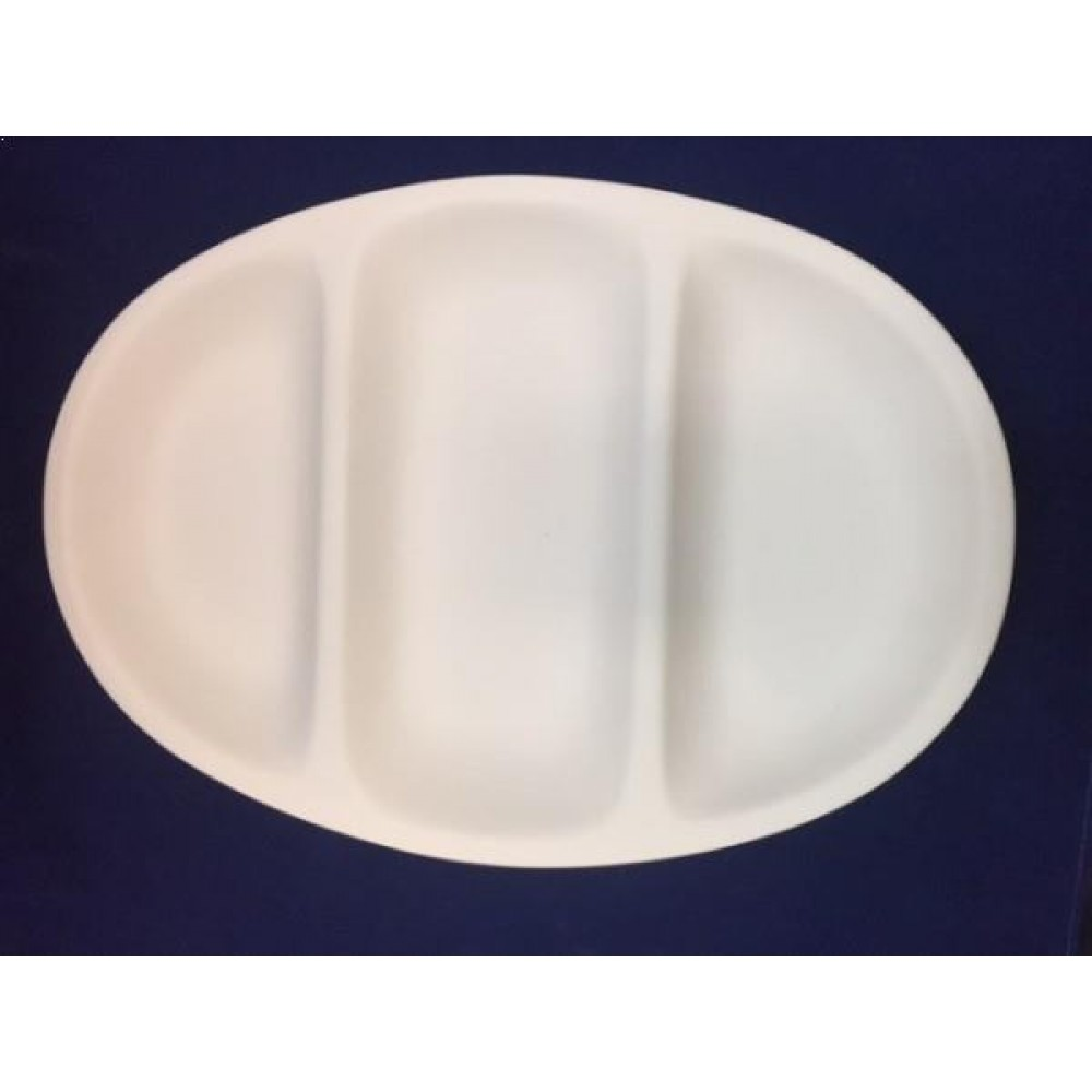3 Section Divided Platter - Case of 3