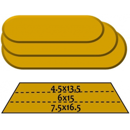 GR Rounded Rectangular Stack (3 Piece)