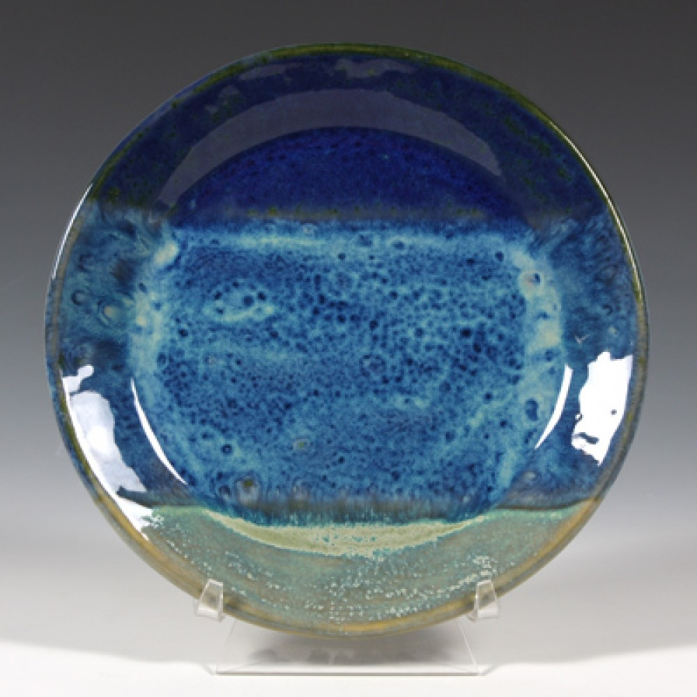 SW-100 blue surf under SW-108 green tea Stoneware Combination
