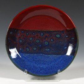 SW-100 Blue Surf under SW-119 Cinnabar Stoneware Combination