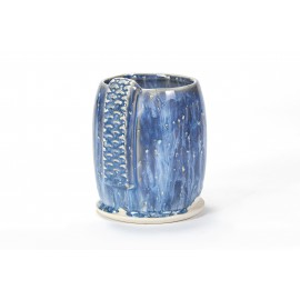 SW-101 stoned denim over SW-118 Sea Salt Stoneware Glaze Combination