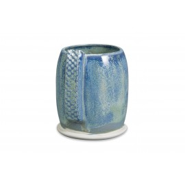 SW-108 Green Tea Over SW-105 Frost Blue Stoneware Combination