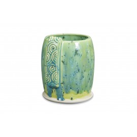 SW-108 Green Tea Over SW-148 Lime Shower Stoneware Combination