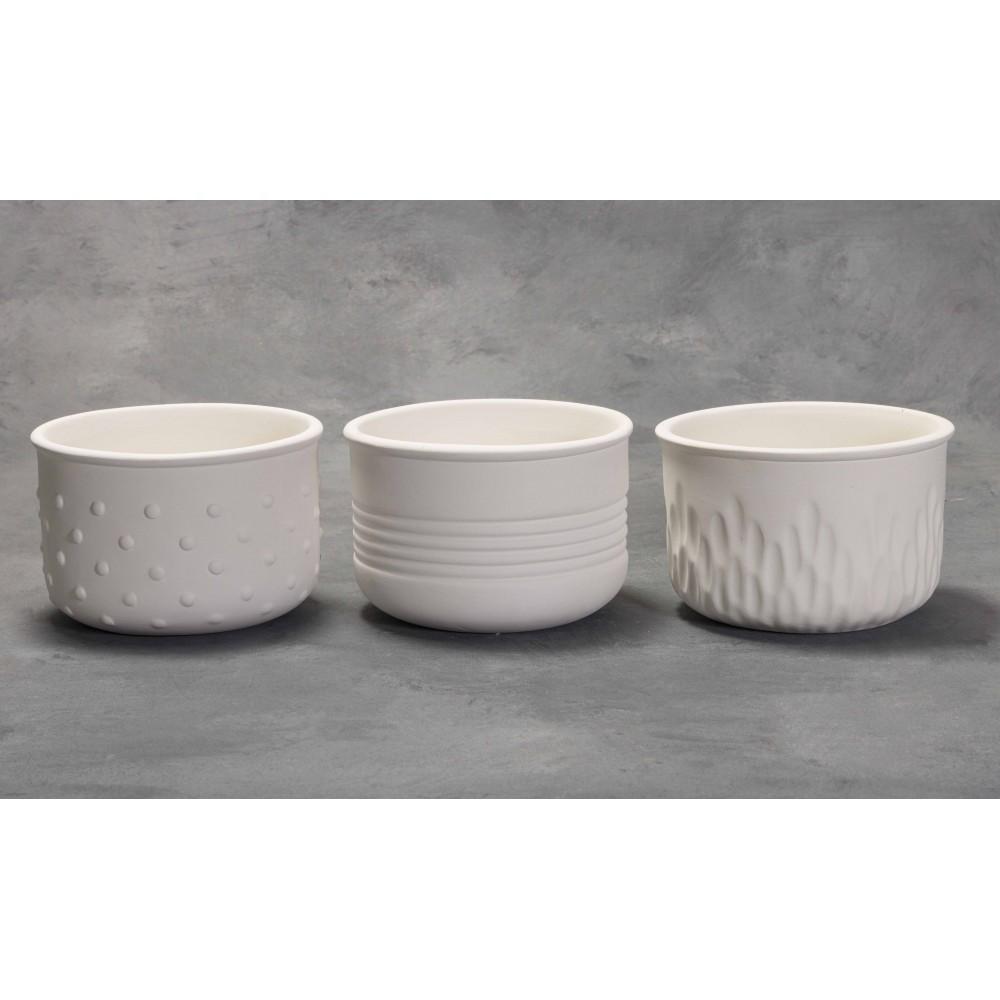 Textured Planters (3 Designs) - Set