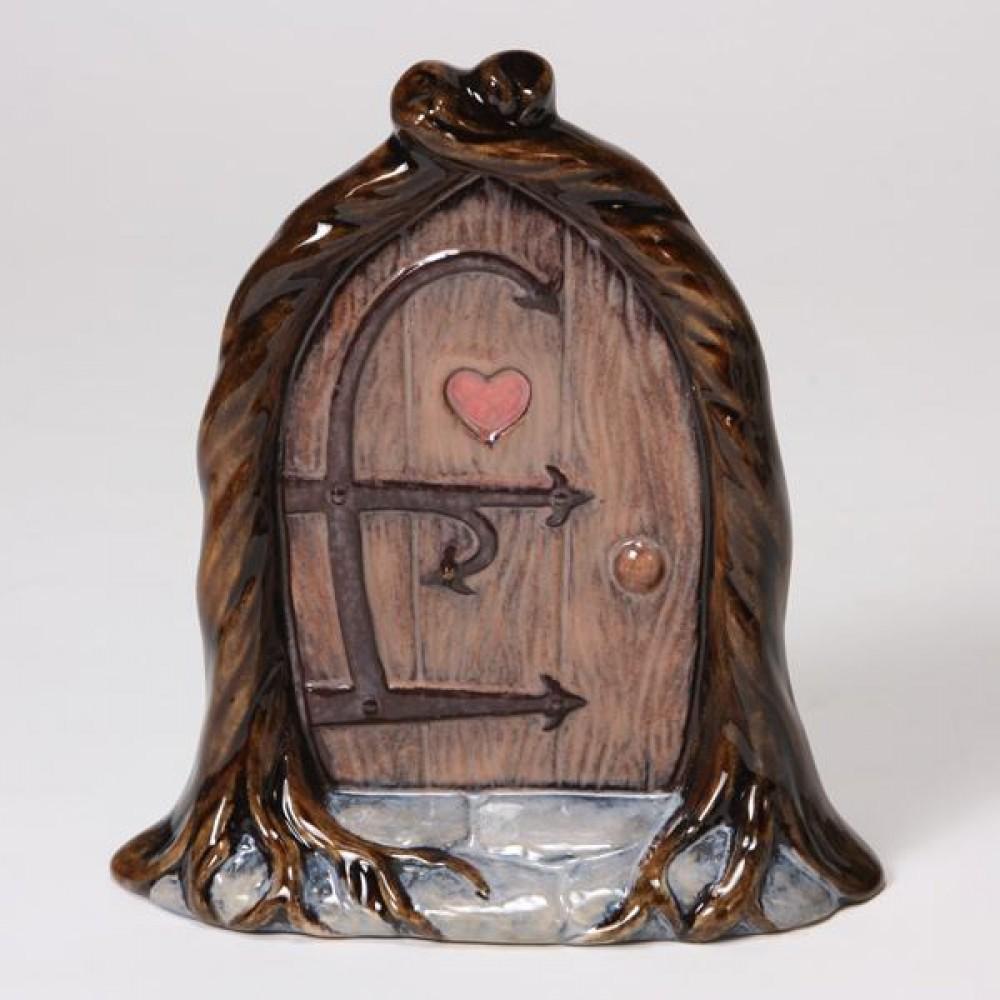 Mb1488 fairy door in ready to paint cone 04 ceramic bisque for Unpainted fairy doors