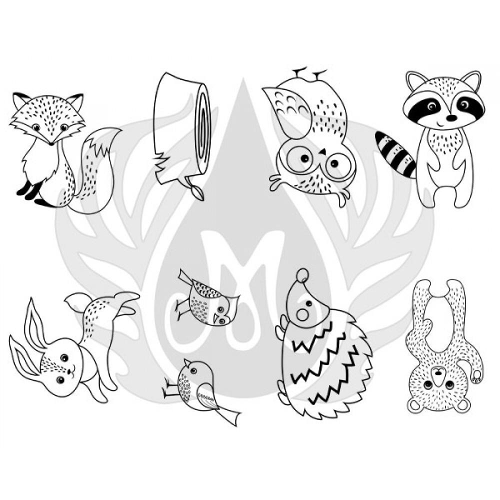 Woodland Critters Designer Silk Screen