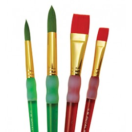4 PC Round Flat Brush Set